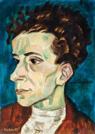 Itzik Manger portrait by Arthur Kolnik